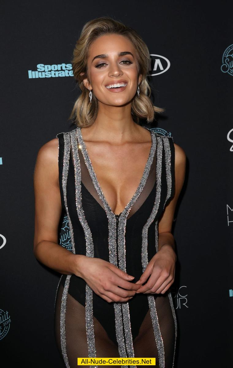 Allie Ayers Nude allie ayers shows cleavage in long see through dress