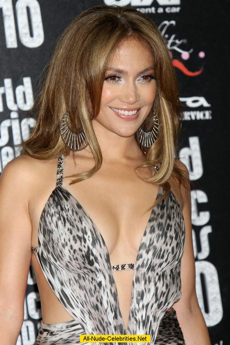 Jennifer Lopez Shows Off Entire Cleavage In Super Deep-V