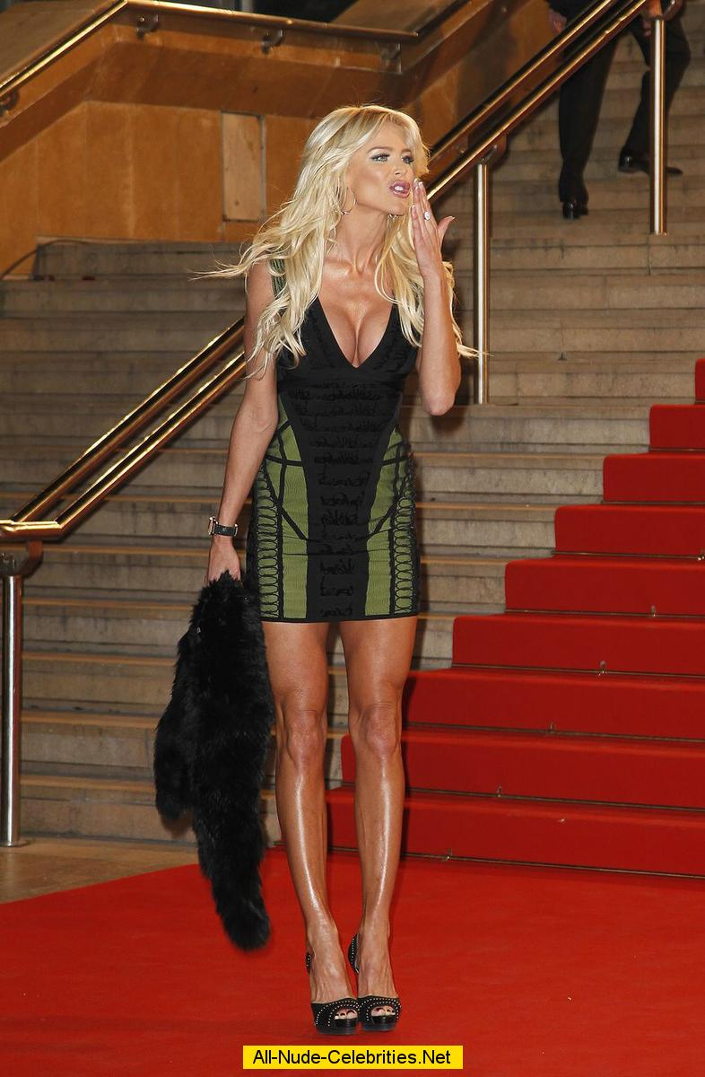 Victoria Silvstedt legs and cleavage at NRJ Music Awards ...