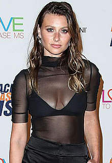Alyson Michalka cleavage at Race Erase MS