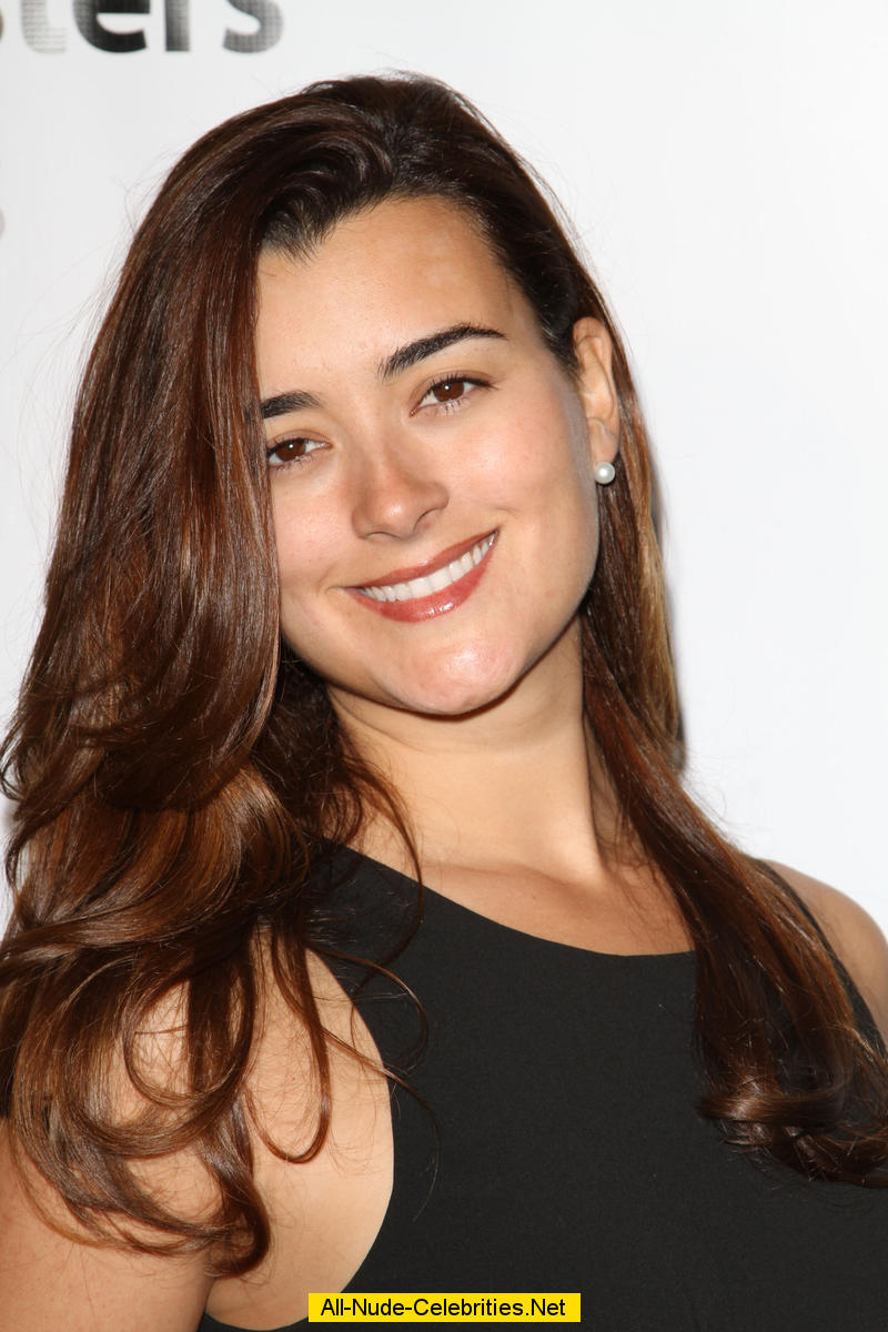 Cote De Pablo Posing For Paparazzi At Fashion Show