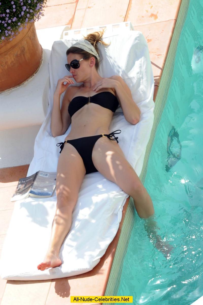 Hilary Swank relaxing ...