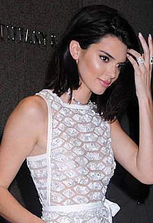 Kendall Jenner in short see through dress