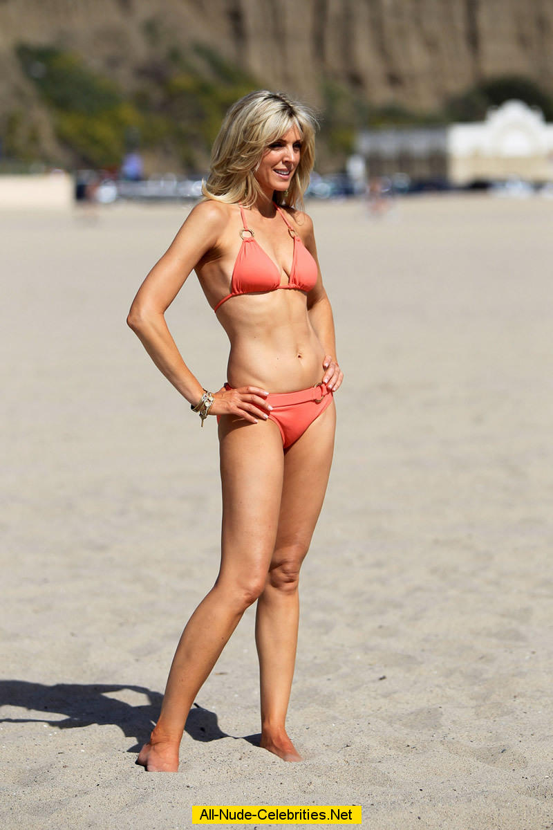 Marla Maples Sexy In Red Bikini On The Beach