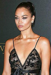 Shanina Shaik in see through dress in Paris