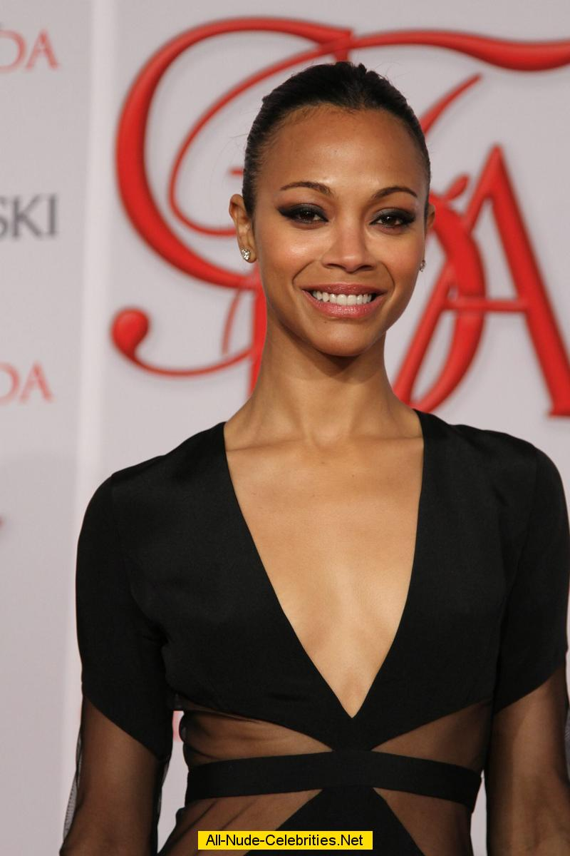 Zoe Saldana posing at 2012 CFDA Fashion Awards Zoe Saldana